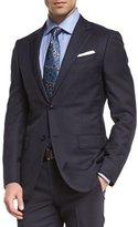 Ermenegildo Zegna Wool Tonal-Check Two-Piece Suit, Navy