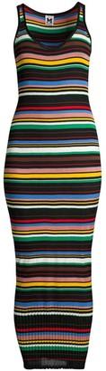 M Missoni Sleeveless Striped Knit Long Tube Dress