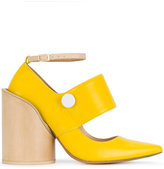 Jacquemus pointed block heel pumps