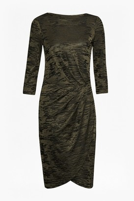 French Connection Stable Jacquard Wrap Dress