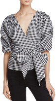 MLM Label Salo Gingham Wrap Shirt