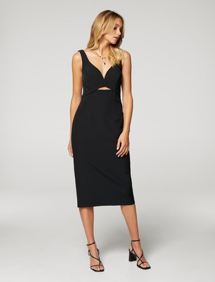 Forever New Layla Cut Out Midi Dress - Black - 10