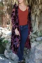 Angie Velvet Burnout Duster