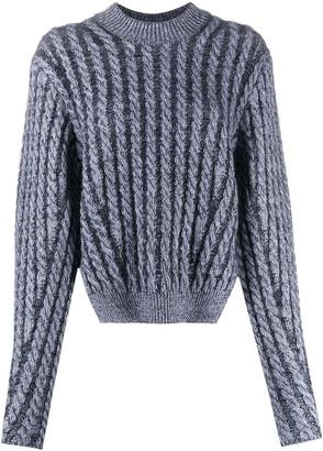 Chloé Cable-Knit Side-Slit Jumper