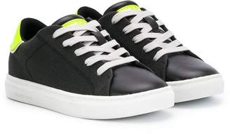 Crime London Kids lace-up low top sneakers