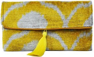 Punica Yellow Ottoman Silk Ikat Clutch Bag