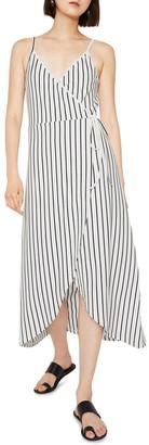 Warehouse Stripe Cami Wrap Maxi Dress