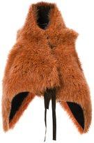 Ann Demeulemeester fur waistcoat - women - Cotton/Goat Fur/Rayon - M