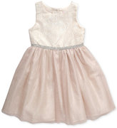 Sweet Heart Rose Floral Jacquard Special Occasion Dress, Little Girls (2-6X)