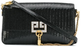 Givenchy snakeskin effect charm bag