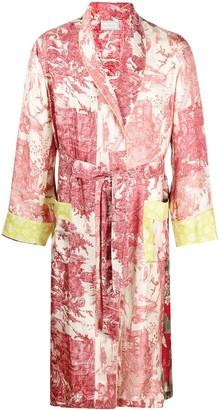 Pierre Louis Mascia Scene Floral Robe Coat