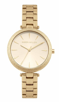 Karen Millen Women's Analogue Quartz Watch with Stainless Steel Strap KM192GM