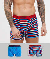 Original Penguin 2 pack red blue trunks