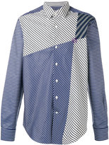 Loewe panelled striped shirt - men - Cotton - 40