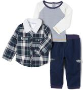 Wendy Bellissimo Navy Plaid Raglan Jacket & Pants - Infant