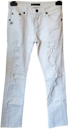 Daniele Alessandrini White Cotton - elasthane Jeans for Women