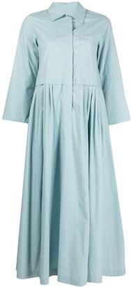 Odeeh Pleated Waist Shirt Dress
