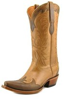 Lucchese Carlos Women Pointed Toe Leather Brown Western Boot.