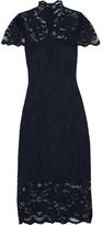 Ganni Flynn Stretch-lace Turtleneck Dress - Midnight blue
