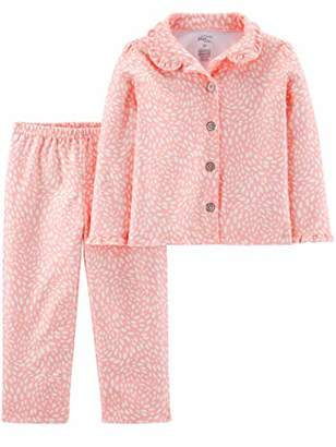 Carter's Simple Joys by Girls' Toddler 2-Piece Coat Style Pajama Set