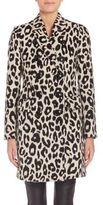 Burberry Plaistow Wool Leopard-Print Coat