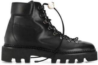 Nicholas Kirkwood DELFI hiking boots 15mm
