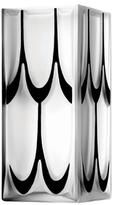 Lalique Clear Manhattan Vase with Black Enamel