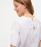 LOFT Tie Back Ruffle Cuff Top
