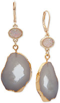 lonna & lilly Gold-Tone Multi-Stone Drop Earrings