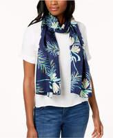 Echo Palm Leaf Silk Scarf