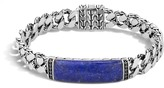 John Hardy Classic Chain ID Bracelet with Lapis and Black Sapphire