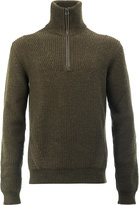 Lanvin zip placket turtleneck top - men - Polyamide/Wool - M