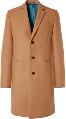 Paul Smith Slim-fit Wool-blend Overcoat - Brown