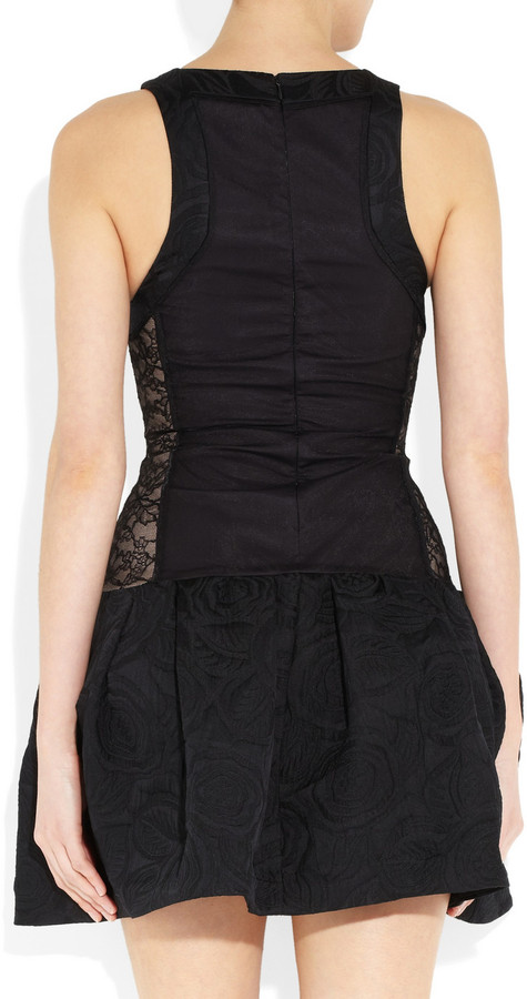 Camilla And Marc Delroy lace and embroidered satin dress