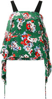 MSGM floral print top - women - Silk - 42