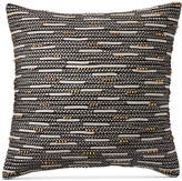 "Hotel Collection Global Stripe Beaded 22"" Square Decorative Pillow, Created for Macy's Bedding"