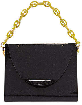 Edie Parker Triangle Solid Acrylic Minaudiere