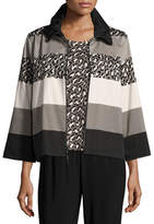 Caroline Rose Stone Age Striped Jacket, Plus Size