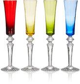 Baccarat Set Of 4 Mille Nuit Flutissimo Champagne Flutes