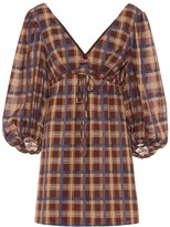 STAUD Exclusive to Mytheresa Keshi checked cotton-blend minidress