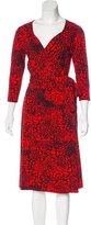David Meister Abstract Print Wrap Dress