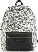 Alexander McQueen leopard print backpack