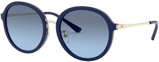 Tory Burch Gradient Round Acetate Sunglasses