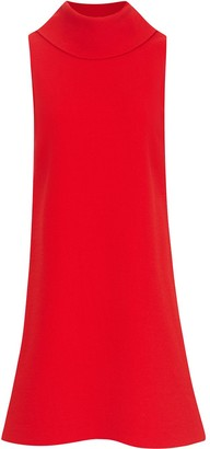 Oscar de la Renta High Neck Sleeveless Dress