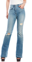 3x1 High-Rise Distressed Bootcut Jeans