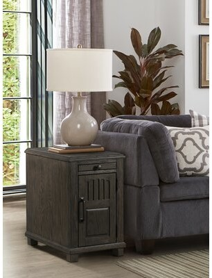 Kuzey End Table with Storage August Grove Color: Smoke