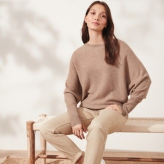 The White Company Cashmere Batwing Jumper, Fawn, Extra Small