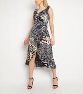 New Look Gini London Animal Print Ruffle Dress