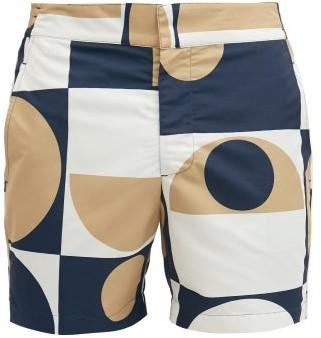 Frescobol Carioca Copic Abstract-print Shell Swim Shorts - Gold Navy