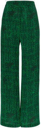 CHUFY Printed Wide-Leg Trousers